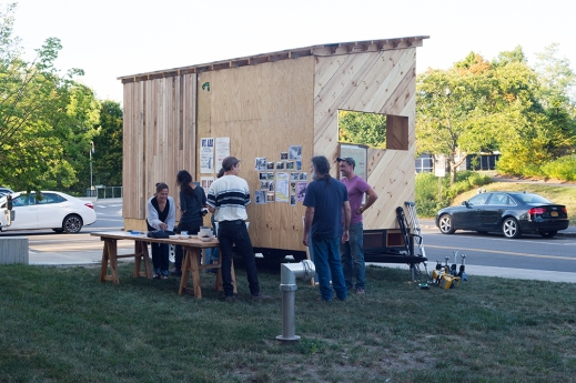 Tool Library in progress on view at CCA Biennal opening at the Johnson Museum (09/2016)