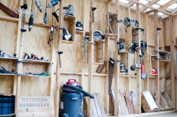 Donated tools on view at CCA Biennal opening at the Johnson Museum (09/2016)